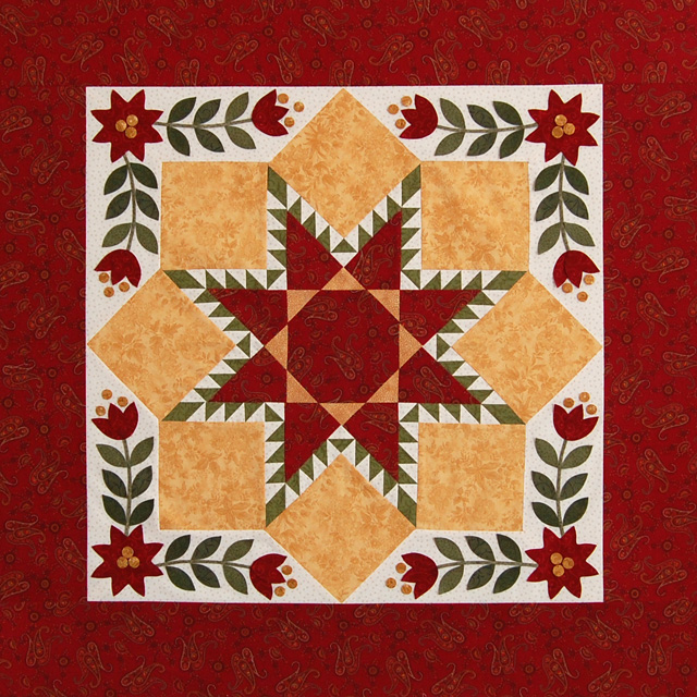 Quilt with Applique-web