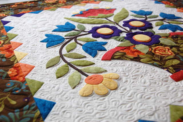 Applique lesson stems one piece at a time