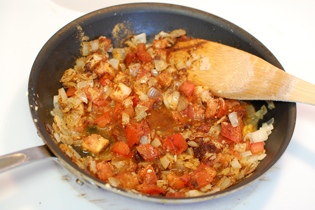 Onions tomato and spices