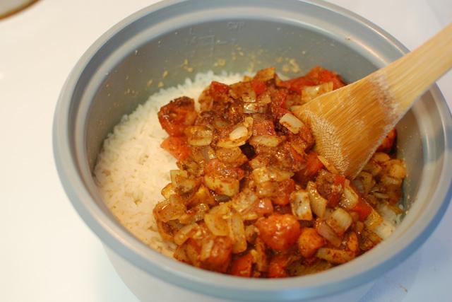 Mix into rice
