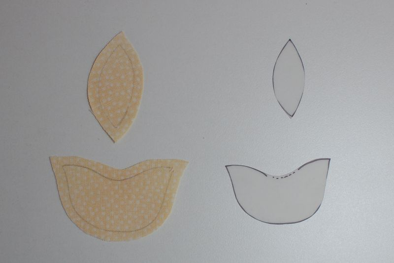 Template and fabric