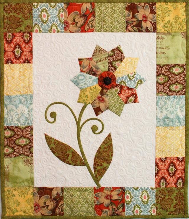 Curio flower quilt