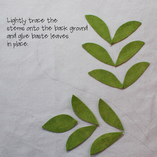 Step 17-place leaves