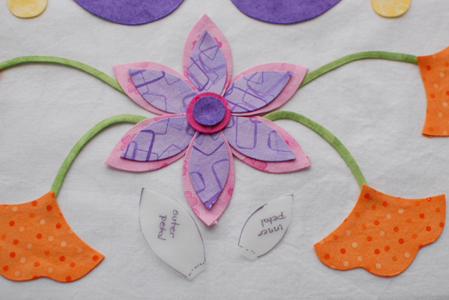 Flower with templates