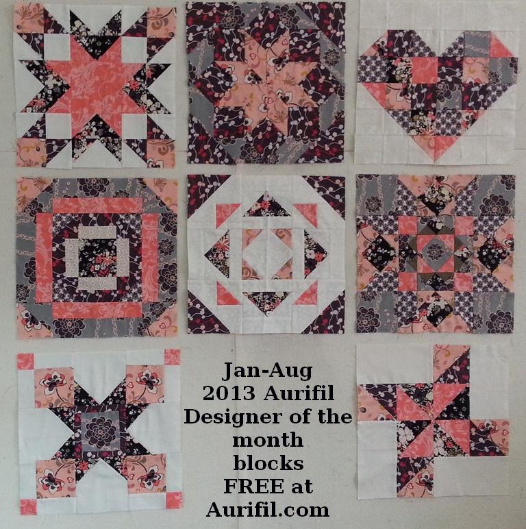 2013 aurifil jan to aug blocks