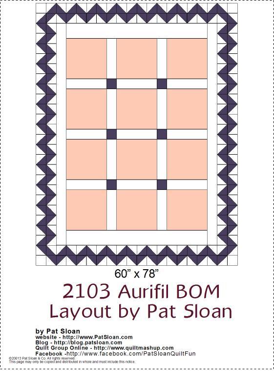 2013 Aurifil DOM setting layout