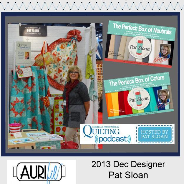 2013 Dec Pat Sloan aurifil designer button