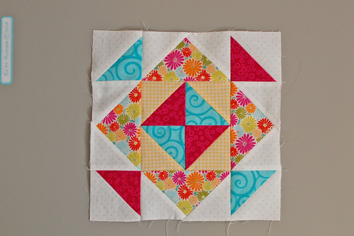 Be Happy Pieced Block 3 step 9