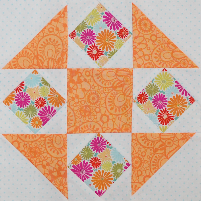Be Happy Pieced Block 4