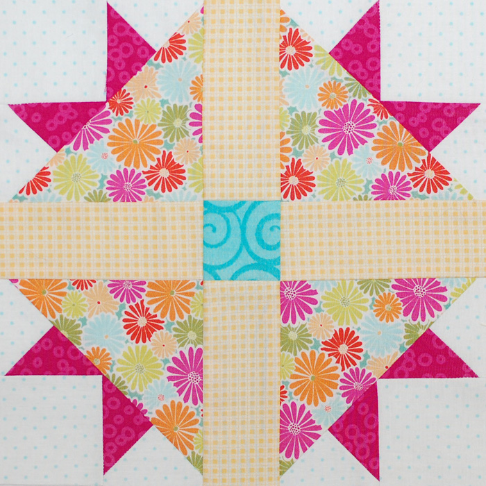 Be Happy Pieced Block 9