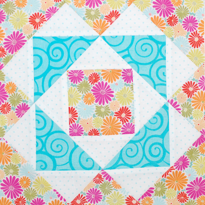 Be Happy Pieced Block 12