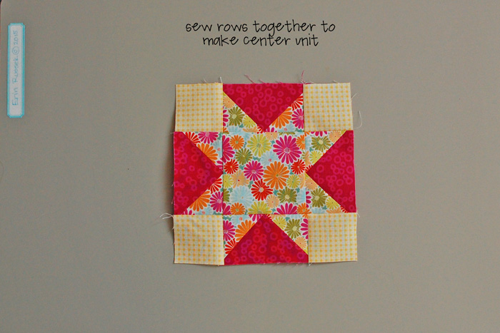 Be Happy Pieced Block 5 step 5