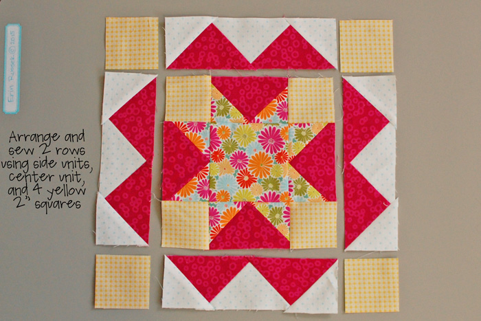 Be Happy Pieced Block 5 step 7