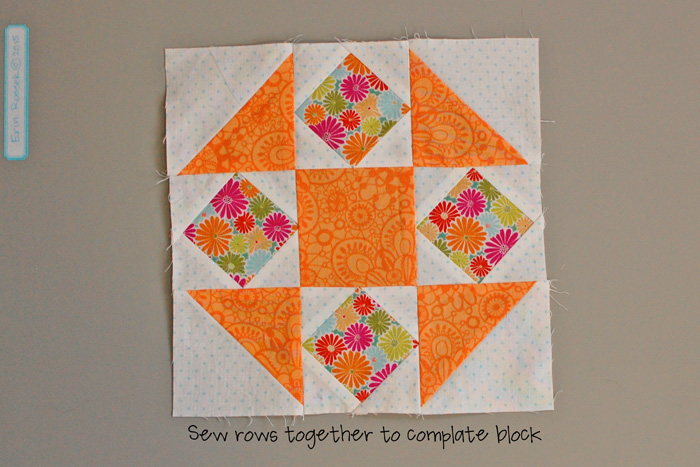 Be Happy Pieced Block 4 step 10