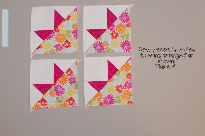 Be Happy pieced block 9 step 4
