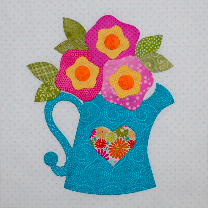 Be Happy Applique Block 10