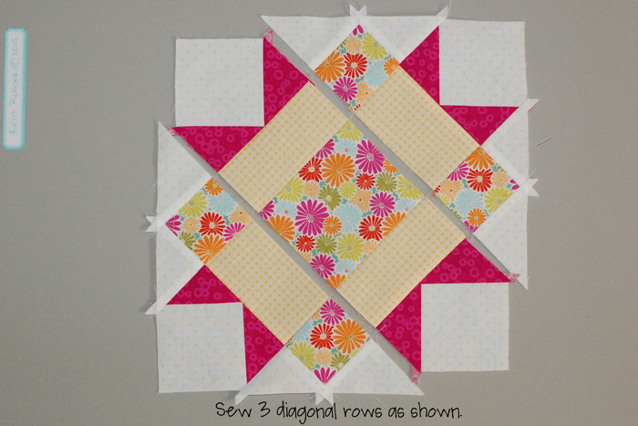 Be Happy Pieced Block 10 step 5