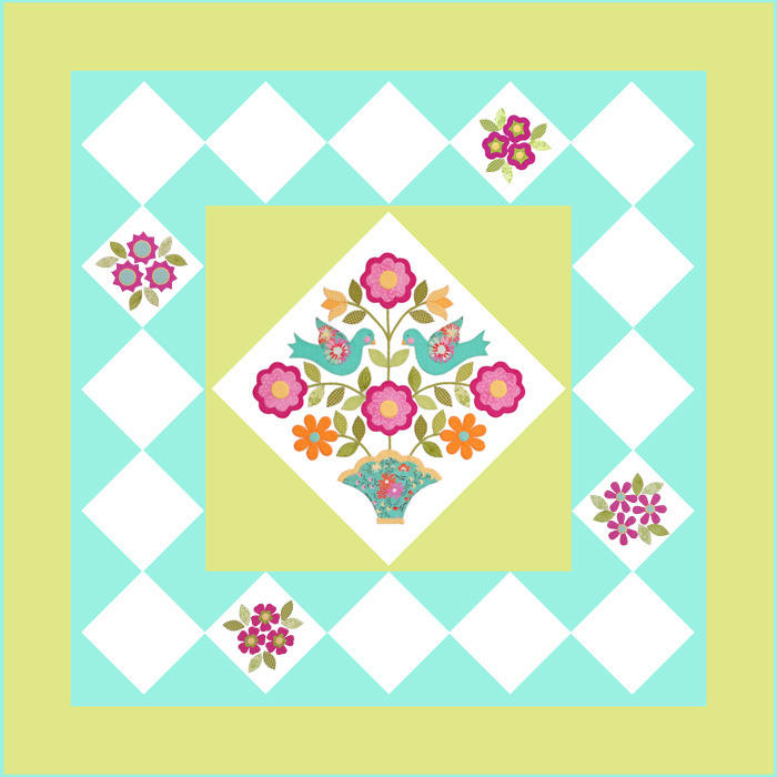 Home Again Quilt Block 4