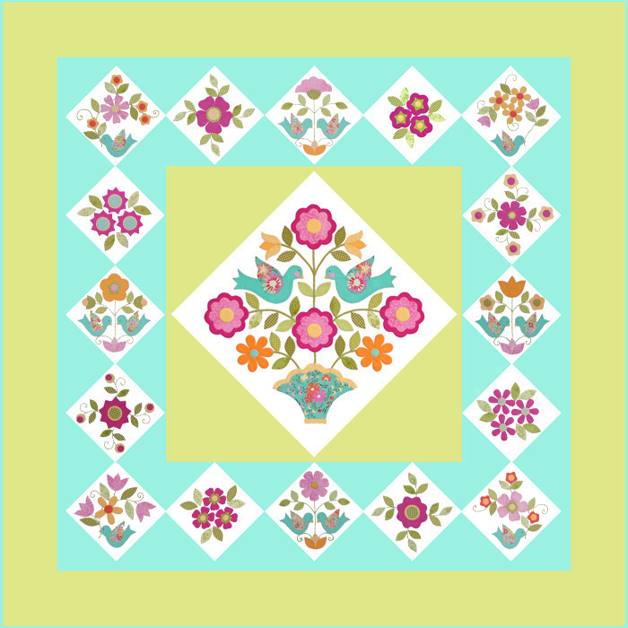 Home Again Quilt Block 16