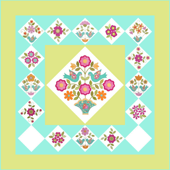 Home Again Quilt Block 14