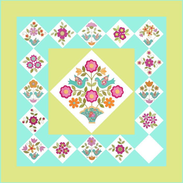 Home Again Quilt Block 15