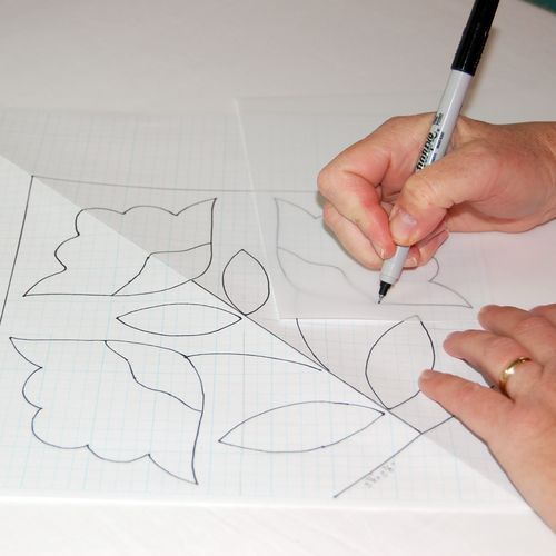 5.Trace pattern onto template material